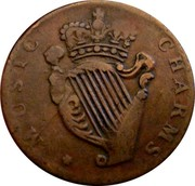 UK 1/2 Penny Louis the Sixteenth - Music Charms ND (1760-1797)  MUSIC CHARMS coin reverse