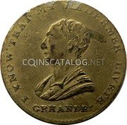 UK 1/2 Penny Middlesex - Political and Social series / Handel 1791 I KNOW THAT MY REDEEMER LIVETH  G. F. HANDEL coin obverse