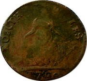 UK 1/2 Penny North Wales - I Williams 1792  NORTH WALES 1792 coin reverse