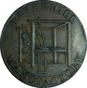 UK 1/2 Penny (Suffolk - Haverhill) HAVERHILL MANUFACTORY coin obverse