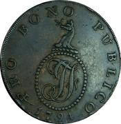UK 1/2 Penny (Suffolk - Haverhill) PRO BONO PUBLICO 1794 coin reverse