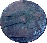 UK 1/2 Penny Warwickshire - Wilkinson (Lettered edge) 1787  1787 coin reverse