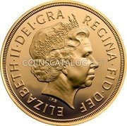 UK 1/4 Sovereign 2012 KM# 1205 British Royal Mint Sovereign Coins ELIZABETH·II·DEI·GRA REGINA·FID·DEF coin obverse