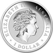 Australia 1 Dollar Colorized Kookaburra 2018 ELIZABETH II AUSTRALIA 1 DOLLAR IRB coin obverse