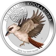 Australia 1 Dollar Colorized Kookaburra 2018 AUSTRALIAN KOOKABURRA 2018 1 OZ 9999 SILVER P coin reverse