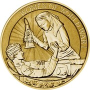 Australia 1 Dollar Women in War 2017 P BU WOMEN OF WORLD WAR I P AH coin reverse