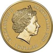 Australia 1 Dollar XXIII Olympic Winter Games Pyeongchang 2018 Frosted Unc ELIZABETH II AUSTRALIA 2018 1 DOLLAR IRB coin obverse