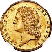 UK 1 Guinea George II Pattern 1727 KM# Pn35 GEORGIVS II DEI GRATIA coin obverse