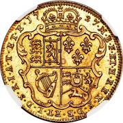 UK 1 Guinea George II Pattern 1727 KM# Pn35 17 27 M B F ET H REX F D B ET L D S R I A T ET E coin reverse