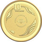 Australia 10 Dollars XXI Commonwealth Games 2018 Proof 10 DOLLARS COMMONWEALTH GAMES FEDERATION CGF coin reverse