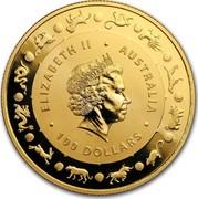 Australia 100 Dollars Lunar Year of the Dog 2018 ELIZABETH II AUSTRALIA 100 DOLLARS IRB coin obverse