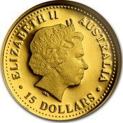 Australia 15 Dollars Discover Australia - Great White Shark 2007 KM# 1151 ELIZABETH II AUSTRALIA 15 DOLLARS IRB coin obverse
