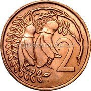 New Zealand 2 Cents 1967 KM# 33 Decimal Coins coin reverse