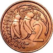 New Zealand 2 Cents Elizabeth II (2nd portrait) 1967 KM# 33 2 coin reverse