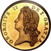 UK 2 Guineas George II Pattern 1733 KM# Pn37 GEORGIVS∙II ∙ DEI∙GRATIA∙ coin obverse