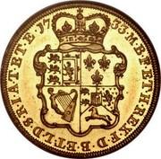 UK 2 Guineas George II Pattern 1733 KM# Pn37 M∙B∙F∙ET∙H∙REX∙F∙D∙B∙ET∙L∙D∙S∙R∙I∙A∙T∙ET∙E∙17 33∙ coin reverse
