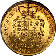UK 2 Guineas George III Pattern 1773 KM# Pn51 17 73 M B F E T H R E X F D B ET L D S E I A T ET E coin reverse