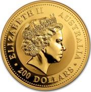 Australia 200 Dollars Lunar Dog (Series I) 2006 ELIZABETH II AUSTRALIA 200 DOLLARS IRB coin obverse