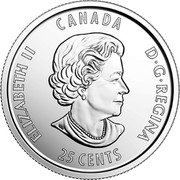 Canada 25 Cents 125th Anniversary of The Stanley Cup 2017 ELIZABETH II CANADA D ∙ G ∙ REGINA 25 CENTS SB coin obverse