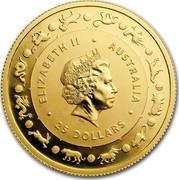 Australia 25 Dollars Lunar Year of the Dog 2018 ELIZABETH II AUSTRALIA 25 DOLLARS IRB coin obverse
