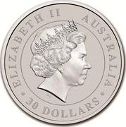 Australia 30 Dollars Australian Koala 2018 ELIZABETH II AUSTRALIA 30 DOLLARS IRB coin obverse