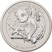 Australia 30 Dollars Australian Koala 2018 AUSTRALIAN KOALA 2018 1 KILO 9999 SILVER P NM coin reverse