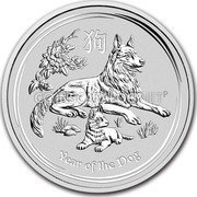 Australia 300 Dollars Year of the Dog 2018 YEAR OF THE DOG P IJ coin reverse