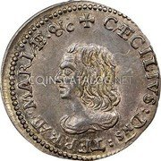 USA 4 Pence (Groat) Lord Baltimore (1659) KM# 2 CAECILIVS : Dns : TERRAE - MARIAE • &C coin obverse