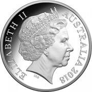 Australia 5 Dollars Australian Olympic Team - PyeongChang 2018 Proof ELIZABETH II AUSTRALIA 2018 IRB coin obverse