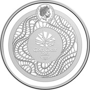Australia 5 Dollars XXI Commonwealth Games 2018 Proof ELIZABETH II AUSTRALIA 2018 IRB GOLD COAST 2018 coin obverse