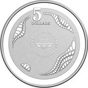 Australia 5 Dollars XXI Commonwealth Games 2018 Proof 5 DOLLARS COMMONWEALTH GAMES FEDERATION CGF coin reverse