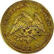 USA $5 Five Dollars (Half eagle) 1849 KM# 41.2 Norris, Greig, & Norris CALIFORNIA GOLD WITHOUT ALLOY coin obverse