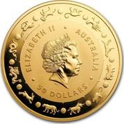 Australia 50 Dollars Lunar Year of the Dog 2018 ELIZABETH II AUSTRALIA 50 DOLLARS IRB coin obverse