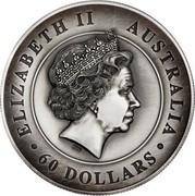 Australia 60 Dollars Australian Koala 2018 P Antique High Relief ELIZABETH II AUSTRALIA 60 DOLLARS IRB coin obverse