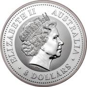 Australia 8 Dollars Year of the Rooster 2005 ELIZABETH II AUSTRALIA 8 DOLLARS IRB coin obverse