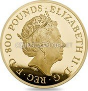 UK 800 Pounds Britannia 2017 Proof 800 POUNDS ELIZABETH II D G REG F D J.C coin obverse