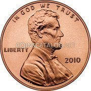 USA Cent Lincoln - Shield Reverse 2010 P Satin Finish KM# 468 IN GOD WE TRUST LIBERTY coin obverse