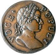 USA Farthing Hibernia Voce Populi 1760 Small letters KM# Tn21.2 VOCE POPULI coin obverse