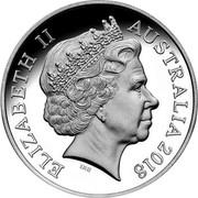 Australia Five Dollars Ravi 2018 High Relief Proof ELIZABETH II AUSTRALIA 2018 IRB coin obverse