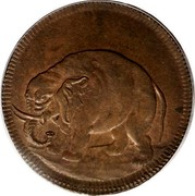 USA Halfpenny 1664 KM# Tn1.1 Elephant Tokens coin obverse