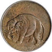 USA Halfpenny 1664 KM# Tn1.2 Elephant Tokens coin obverse
