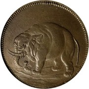 USA Halfpenny 1664 KM# Tn2 Elephant Tokens coin obverse