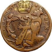 USA Halfpenny 1682 KM# 2 St. Patrick or Mark Newby FLOREAT REX IIII II coin obverse