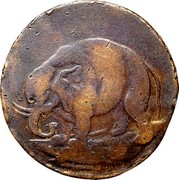 USA Halfpenny 1694 KM# Tn8.2 Elephant Tokens coin obverse