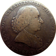 UK Halfpenny (Cheshire - Charles Roe Copper Works) CHARLES ROE ESTABLISHED THE COPPER WORKS coin obverse