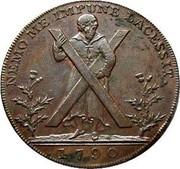 UK Halfpenny Edinburgh / Hutchison's 1790  NEMO ME IMPUNE LACESSIT. 1790 coin obverse