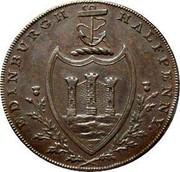 UK Halfpenny Edinburgh / Hutchison's 1790  EDINBURGH HALFPENNY coin reverse