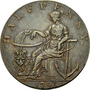 UK Halfpenny (Hampshire - Emsworth / Peace and Plenty) HALFPENNY. 1794 coin obverse