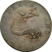 UK Halfpenny (Hampshire - Emsworth / Peace and Plenty) PEACE AND PLENTY. coin reverse