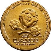 Ukraine Hryvnia UEFA Euro 2012 2012 KM# 668 ФІНАЛЬНИЙ ТУРНІР ЧЕМПІОНАТУ ЄВРОПИ З ФУТБОЛУ 2012 Р. ТМ UEFA EURO 2012 POLAND-UKRAINE coin reverse